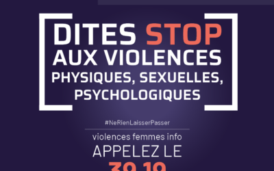 25 novembre | Dites STOP aux violences faites aux femmes