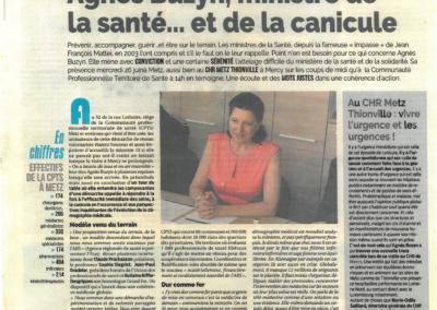 'Agnès Buzin, ministre de la santé et de la canicule'
