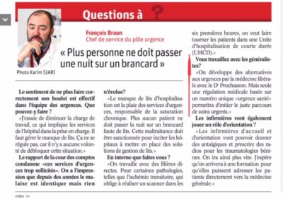 'Interview de Dr Braun, Chef du service des urgences à l'hôpital de Mercy et administrateur à la CPTS Metz et environs'