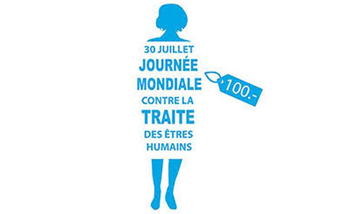 affiche journée mondiale contre la traite des êtres humains