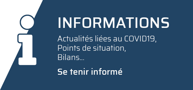 Onglet informations COVID19