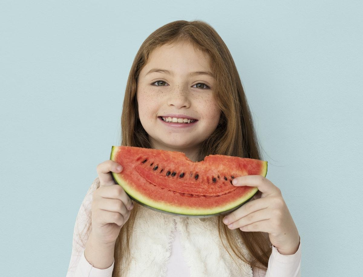 petite fille pastèque