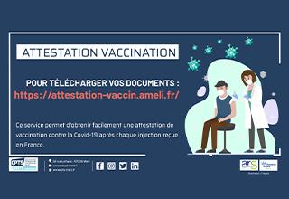 Télécharger son attestation de vaccination certifiée